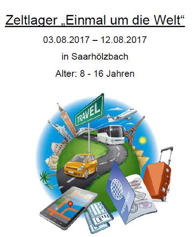 Zeltlager 2017, Anmeldung