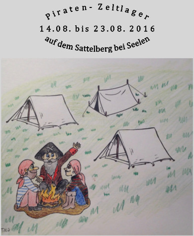 Zeltlager 2016, Anmeldung